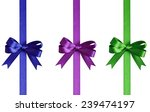 set of bows with ribbons... | Shutterstock . vector #239474197