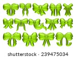 3d big set of green gift bows... | Shutterstock . vector #239475034