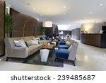 Stock photo hotel lobby cafe interior 239485687