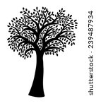 silhouette of a tree | Shutterstock .eps vector #239487934