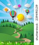 vector illustration sunlight on ... | Shutterstock .eps vector #239490139