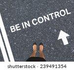 businesswomans feet against road | Shutterstock . vector #239491354