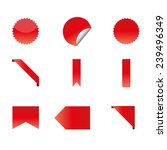 price tag set sale stamps... | Shutterstock .eps vector #239496349