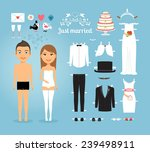 Cute Just Married Couple Paper...