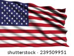 united states flag with fabric... | Shutterstock . vector #239509951