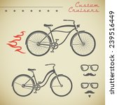 classic cruiser bicycle and... | Shutterstock .eps vector #239516449