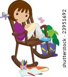 illustration of young artist at ... | Shutterstock .eps vector #23951692