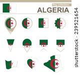 algeria flag collection  12... | Shutterstock .eps vector #239521654