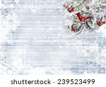 wooden background with firtree  ... | Shutterstock . vector #239523499