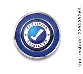 certified blue vector icon...   Shutterstock .eps vector #239539264
