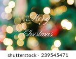 merry christmas typography with ... | Shutterstock . vector #239545471