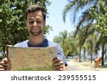 travel lifestyle  male tourist... | Shutterstock . vector #239555515