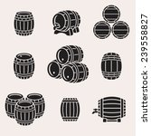 barrels set. vector  | Shutterstock .eps vector #239558827