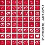 red background heart shape... | Shutterstock .eps vector #239560915