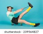 young beautiful sensual crazy... | Shutterstock . vector #239564827