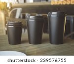 cups of different sizes on cafe ... | Shutterstock . vector #239576755
