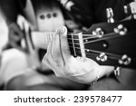 Playing Guitar Close Up....