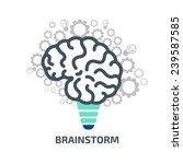 idea brainstorm | Shutterstock .eps vector #239587585