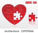 Jigsaw Puzzle Heart  Vector...