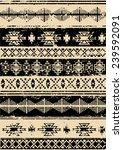 aztec navajo indian carpet... | Shutterstock .eps vector #239592091