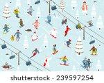 ski resort seamless pattern... | Shutterstock .eps vector #239597254