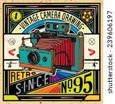 vector illustration  retro... | Shutterstock .eps vector #239606197