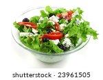 vegetable salad and roquefort...   Shutterstock . vector #23961505
