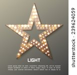star retro light banner. vector ...