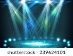 stage spotlights blue . vector... | Shutterstock .eps vector #239624101