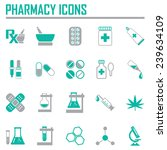 pharmacy  rx icons   in green... | Shutterstock .eps vector #239634109