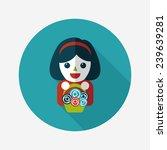 wedding flower girl flat icon... | Shutterstock .eps vector #239639281