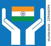 hand showing india flag. vector ... | Shutterstock .eps vector #239646094