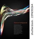 abstract neon lines. vector... | Shutterstock .eps vector #239650264