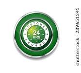 24 hours customer support green ... | Shutterstock .eps vector #239651245