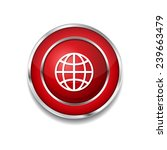 globe sign red vector icon... | Shutterstock .eps vector #239663479