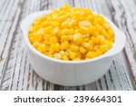 Sweet Corn Bowl On Wooden...
