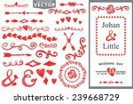doodles frame border hearts... | Shutterstock .eps vector #239668729