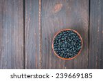Black Beans On Wooden...