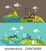panoramic landscape with... | Shutterstock .eps vector #239678089