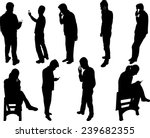 people silhouettes with phone   ... | Shutterstock .eps vector #239682355
