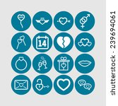 set of simple lovely icons for... | Shutterstock .eps vector #239694061