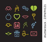 set of simple lovely icons for... | Shutterstock .eps vector #239694121