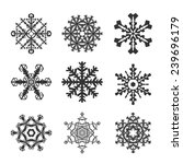 snowflakes flat icon set...   Shutterstock . vector #239696179