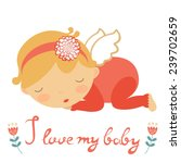 i love my baby cute card with...