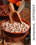 chickpeas in the bowl with... | Shutterstock . vector #239703019