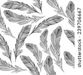 black and white feathers pattern | Shutterstock . vector #239706667