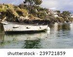 Old Boat In The Harbor In...