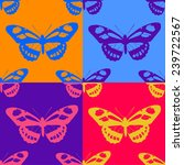 seamless butterfly background.... | Shutterstock .eps vector #239722567