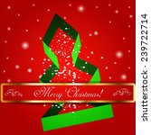 merry christmas tree background.... | Shutterstock .eps vector #239722714
