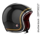motorcycle helmet black.... | Shutterstock . vector #239730217